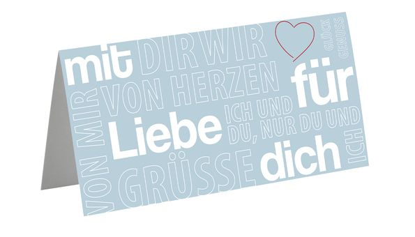 "Greeting card ""Liebe"""